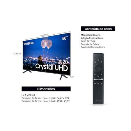 Smart Tv Samsung 50 Polegadas 4K UHD Crystal UN50TU8000GXZD