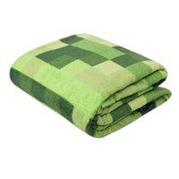 Manta Casal Soft Fleece Premium 2,00m x 1,80m - Tetris Verde