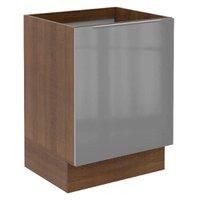 Balcão Madesa Lux 60 cm 1 Porta - Rustic/Cinza