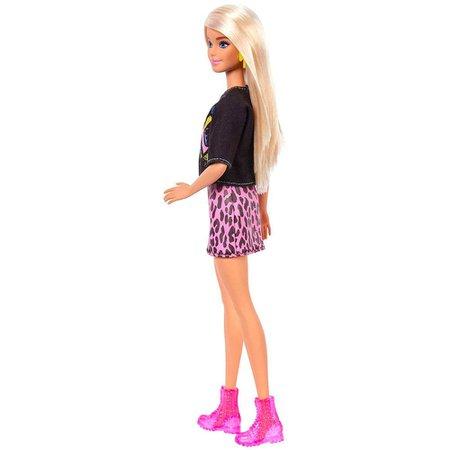 Barbie Fashionistas Loira Camiseta Rock - Mattel