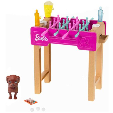 Barbie Mini Conjunto com Pet Mesa de Pebolim - Mattel