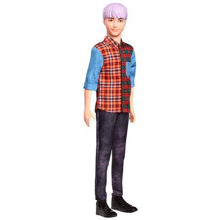 Ken Fashionista Camisa Xadrez e Cabelo Colorido - Mattel