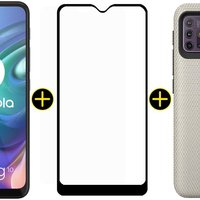 Kit Celular Motorola Moto G10 Branco 64GB + Capa Protetora + Pelicula Protetora