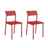 Conjunto 2 Cadeiras Tubo Vermelho Napa Vermelho 1709 Carraro