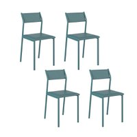 Conjunto 4 Cadeiras Tubo Turquesa Napa Turquesa 1709 Carraro