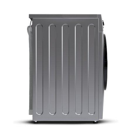 Lava e Seca Midea Prata 12kg Storm Wash Inverter Tambor 4D Grafite Metálico Porta Preta