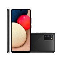 Smartphone Samsung A02S Tela 6,5 32GB 3GB RAM Android 10 Preto