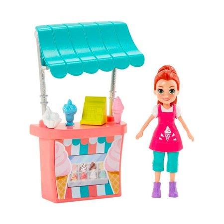 Polly Pocket Stand De Sorvetes Lila - Mattel
