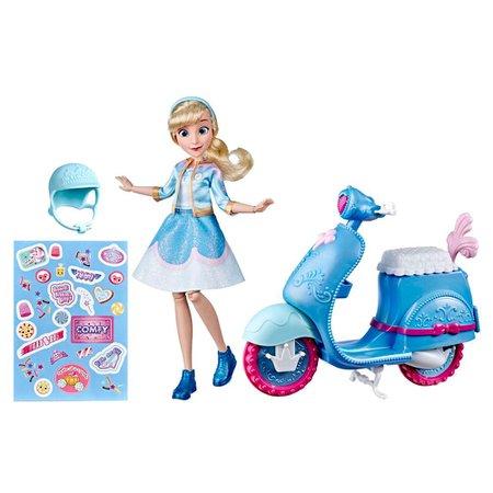 Boneca Disney Princess Comfy Squad Scooter Cinderela -Hasbro