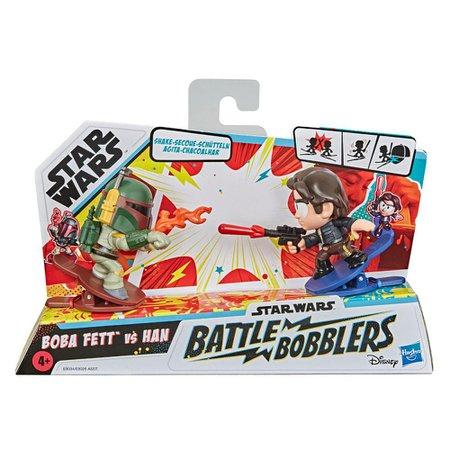 Mini Figuras Star Wars Battle Bobblers Boba Fett Vs. Han - Hasbro