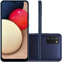 Celular Samsung Galaxy A02s Azul 32GB Tela 6.5 3GB RAM Câmera Tripla 13MP 2MP 2MP
