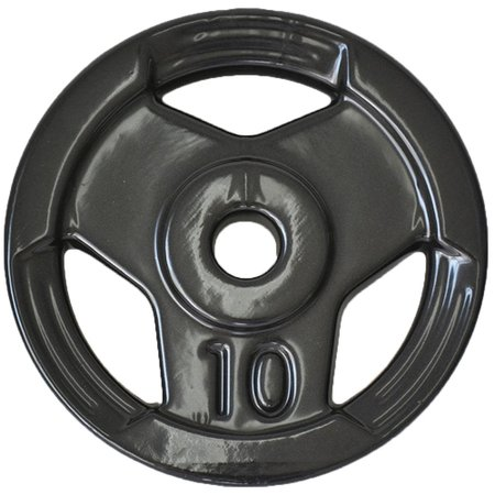 Anilha Sport Emborrachada Furo Standad Ahead Sports 10kg Preta