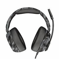 Fone de Ouvido Gamer Over-Ear Multiplataforma Mic Dobrável Trust GXT 433K Pylo Headset Camo Black