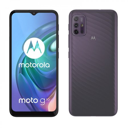 Smartphone Motorola G10 64GB 4G Wi-Fi Tela 6.5'' Dual Chip 4GB RAM Câmera Quádrupla + Selfie 8MP - Cinza Aurora