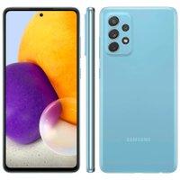 Smartphone Samsung Galaxy A72 128GB 4G Wi-Fi Tela 6.7'' Dual Chip 6GB RAM Câmera Quádrupla + Selfie 32MP - Azul