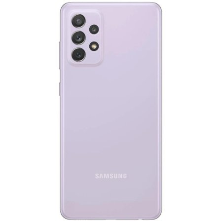 Smartphone Samsung Galaxy A72 128GB 4G Wi-Fi Tela 6.7'' Dual Chip 6GB RAM Câmera Quádrupla + Selfie 32MP - Violeta