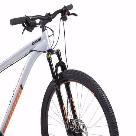 Bicicleta MTB Caloi 29 Aro 29 - Câmbio Shimano Freio a Disco - 21 Velocidades - Prata
