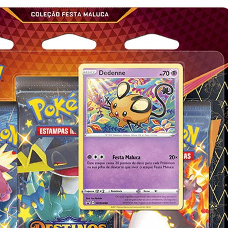 Pokémon Blister Tripo Destinos Brilhantes Dedenne - Copag