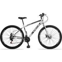 Bicicleta Aro 29 Quadro 17 Aço Garfo Rígido 21 Marchas Freio Disco Mecânico Moon Branco - Spaceline