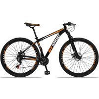 Bicicleta Aro 29 Quadro 15 Alumínio 21 Marchas Freio Disco Mecânico MX1 Preto/Laranja - GT Sprint