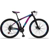 Bicicleta Aro 29 Quadro 15 Alumínio 21 Marchas Freio Disco Mecânico MX1 Preto/Rosa - GT Sprint