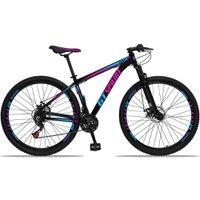 Bicicleta Aro 29 Quadro 19 Alumínio 21 Marchas Freio Disco Mecânico MX1 Preto/Rosa - GT Sprint