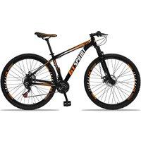 Bicicleta Aro 29 Quadro 19 Alumínio 21 Marchas Freio Disco Mecânico MX1 Preto/Laranja - GT Sprint