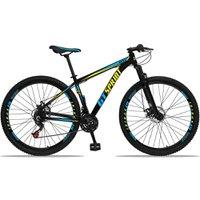Bicicleta Aro 29 Quadro 19 Alumínio 21 Marchas Freio Disco Mecânico MX1 Preto/Azul - GT Sprint