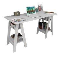 Mesa Mesinha Escrivaninha Cavalete Home Office Branco