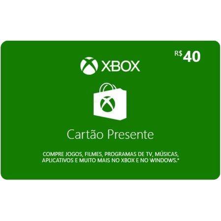 Gift card / Cartão Presente XBox R$40