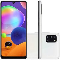 Celular Samsung Galaxy A31 Branco 128GB Tela 6.4 4GB RAM Camera 48MP 8MP 5MP 5MP