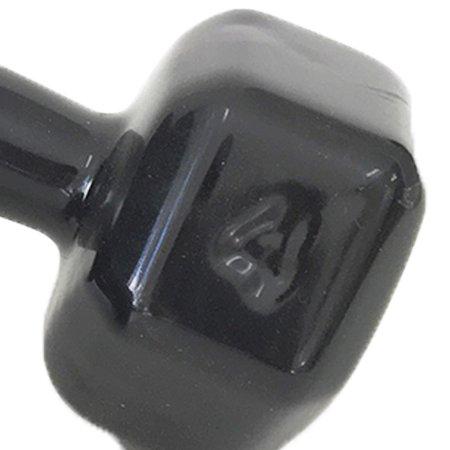 Par de Halter Dumbell Sextavado Revestido Ahead 4 kg Preto