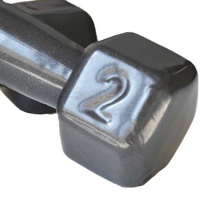 Par de Halter Dumbell Sextavado Revestido Ahead Sports  2 kg Preto
