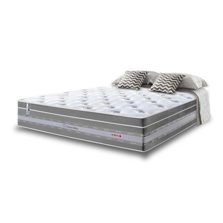 Colchão Casal de Molas Ensacadas Cama inBox Select Euro Soft 138x188x32 Cinza