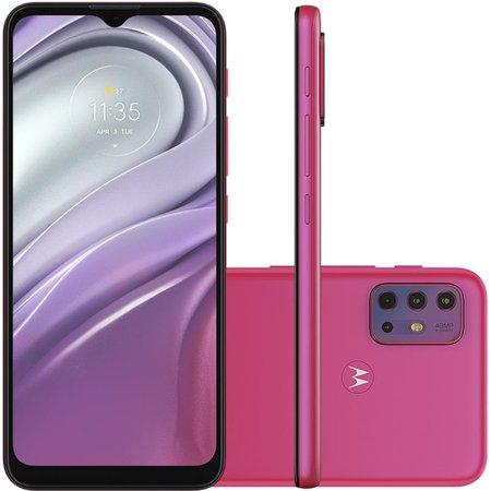Celular Motorola Moto G20 Pink 64GB Tela 6.5 4GB RAM Camera 48MP 8MP 2MP 2MP