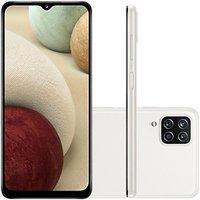 Celular Samsung Galaxy A12 Branco 64GB Tela 6.5 4GB RAM Camera 48MP 5MP 2MP 2MP