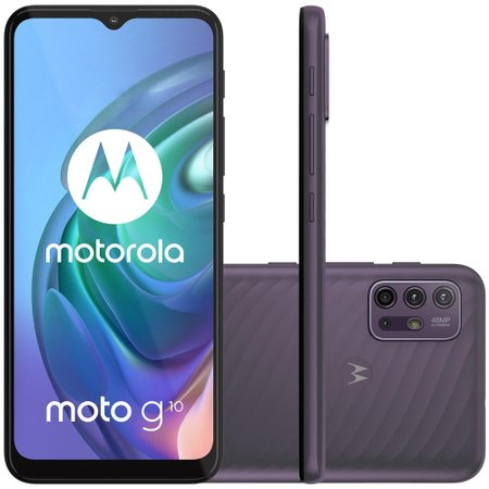Kit Celular Motorola Moto G10 Cinza 64GB + Caixa De Som Bluetooth Y-Move 12W