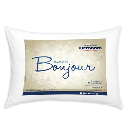 Travesseiro Bonjour Branco Microfibra - Fibra Siliconada