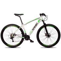 Bicicleta MTB Volcon Aro 29 Quadro 19 Alumínio 21 Marchas Freio Mecânico Branco Verde - GT Sprint