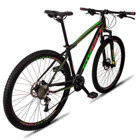 Bicicleta Volcon Aro 29 Quadro 17 Alumínio 27v Freio Hidráulico Preto Vermelho Verde - GT Sprint