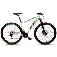 Bicicleta Volcon Aro 29 Quadro 15 Alumínio 21v Câmbio Tras Shimano Freio Mecânico Branco - GT Sprint