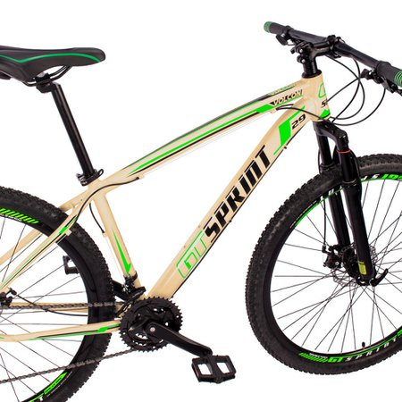 Bicicleta Volcon Aro 29 Quadro 15 Alumínio 21v Câmbio Tras. Shimano Freio Mecânico Creme - GT Sprint