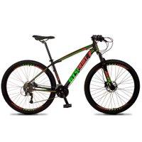 Bicicleta Volcon Aro 29 Quadro 15 Alumínio 27v Freio Hidráulico Preto Vermelho Verde - GT Sprint