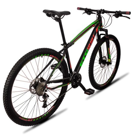 Bicicleta Volcon Aro 29 Quadro 21 Alumínio 27v Freio Hidráulico Preto Vermelho Verde - GT Sprint