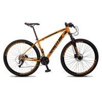 Bicicleta MTB Vega Aro 29 Quadro 21 Alumínio 27 Marchas Freio Hidráulico Laranja - Spaceline