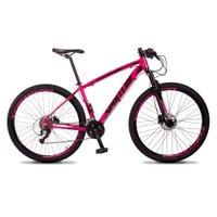 Bicicleta MTB Vega Aro 29 Quadro 21 Alumínio 27 Marchas Freio Hidráulico Rosa - Spaceline