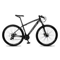 Bicicleta MTB Vega Aro 29 Quadro 17 Alumínio 21 Marchas Freio Mecânico Preto Cinza - Spaceline