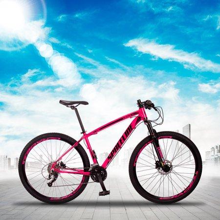 Bicicleta MTB Vega Aro 29 Quadro 17 Alumínio 27 Marchas Freio Hidráulico Rosa - Spaceline
