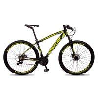 Bicicleta MTB Vega Aro 29 Quadro 17 Alumínio 21 Marchas Freio Mecânico Preto Amarelo - Spaceline