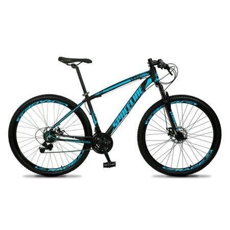 Bicicleta MTB Vega Aro 29 Quadro 17 Alumínio 21 Marchas Freio Mecânico Preto Azul - Spaceline